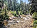 River in Vail Colorado Royalty Free Stock Photo