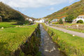 River Valency Boscastle Cornwall England UK flowing towards the harbour beautiful day Royalty Free Stock Photo
