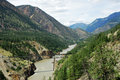 River valley in lillooet Stock Photo
