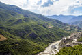 River Valley summer Landscape Distrct Gramsh Albania Royalty Free Stock Photo