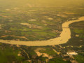 River view from above Royalty Free Stock Photo