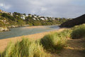 River view from Crantock beach Cornwall England Stock Photos
