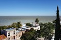 River view of the rio plata in colonia del sacramento uruguay Royalty Free Stock Image