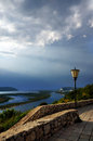 River volga samara city top view Royalty Free Stock Photo