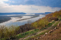 River volga samara city view of valley of the from the hill Royalty Free Stock Photo
