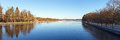 River vuoksa embankment on the imatra finland Royalty Free Stock Photography