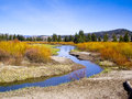 Riverbanks in Summer color Royalty Free Stock Photos