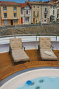 Riverboat Deck, Rhone River, France Stock Photo
