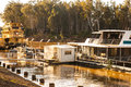 Riverboat the in the river Stock Photos
