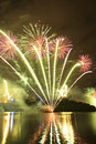 Riverfire festival in brisbane fireworks at city queensland australia Royalty Free Stock Photos