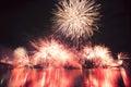 Riverfire festival in brisbane fireworks at city queensland australia Stock Images