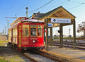 Riverfront Streetcar at Toulouse Street Royalty Free Stock Photography