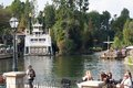 Rivers of america at disneyland with mark twain riverboat and raft s the exploring the river tom sawyer s traveling to pirate s Royalty Free Stock Image