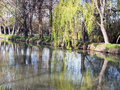 Riverside of the canal de castilla in palencia spain Royalty Free Stock Photos