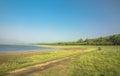 Riverside in dikala of zone of jim corbett national park Royalty Free Stock Photo