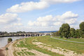 Riverside elbe in dresden a look at the of lake Stock Photo
