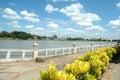 Riverside park chaophraya river thailand Royalty Free Stock Image