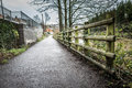 Riverside walk a in england Royalty Free Stock Photos