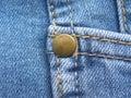 Rivet on blue color jeans