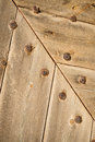 Riveted wood full frame take of some old wooden planks Royalty Free Stock Photography