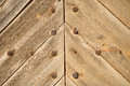 Riveted wood full frame take of some old wooden planks Royalty Free Stock Photo