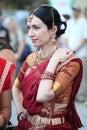 Beautiful woman in Indian sari costume