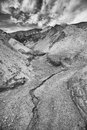 Rivulet in death valley at golden canyon Royalty Free Stock Photo