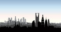 Riyadh city skyline. Cityscape silhouette with landmarks background