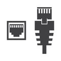 RJ45 cable illustration Royalty Free Stock Photo