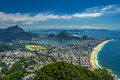 Rj corcovado hill rodrigo de freitas lagoon catacumba park ipanema and leblon beaches and arpoador rio de janeiro brasil Royalty Free Stock Photo