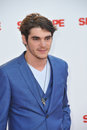 Rj mitte los angeles ca july at the world premiere of sex tape at the regency village theatre westwood Stock Photography