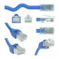 RJ45 Views and Angles Stock Photos