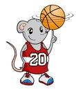 Funny rat playing basketball Royalty Free Stock Photo
