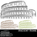 Rman Colosseum Set Royalty Free Stock Image