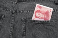 RMB pocket money Royalty Free Stock Image