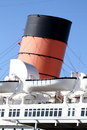 Rms queen mary cruise liner funnel of Stock Photo