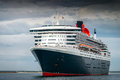 Rms queen mary is leaving port adelaide outer harbour south australia Royalty Free Stock Image