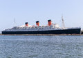 Rms queen mary long beach usa june retired ocean liner permanently moored and serving as a tourist attraction in long beach harbor Royalty Free Stock Photography