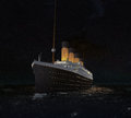 Rms titanic s last night a digital illustration of the depicted on her at sea with the lights a glow created using a mixture of Royalty Free Stock Image
