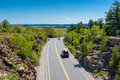 Road in Acadia National Park Maine Royalty Free Stock Photo
