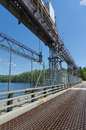 Road across the paugan dam station in gatineau quebec canada Royalty Free Stock Photos