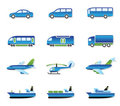 Road, air, rail and water transport Stock Photos