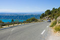 Road alone Verdon gorge Royalty Free Stock Photos