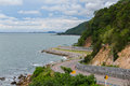 The road along beautiful beaches in the eastern sea coast Royalty Free Stock Photo