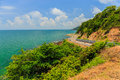 The road along beautiful beaches Royalty Free Stock Photo