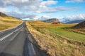 Road along the Hvalfjordur, Iceland