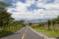 Road in the Andes in Ecuador Royalty Free Stock Photography