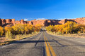 Road in Arches National Park, Utah Royalty Free Stock Photo
