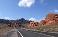 Road on a arizona desert Royalty Free Stock Images