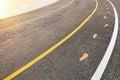 road asphalt and lanes Royalty Free Stock Photo